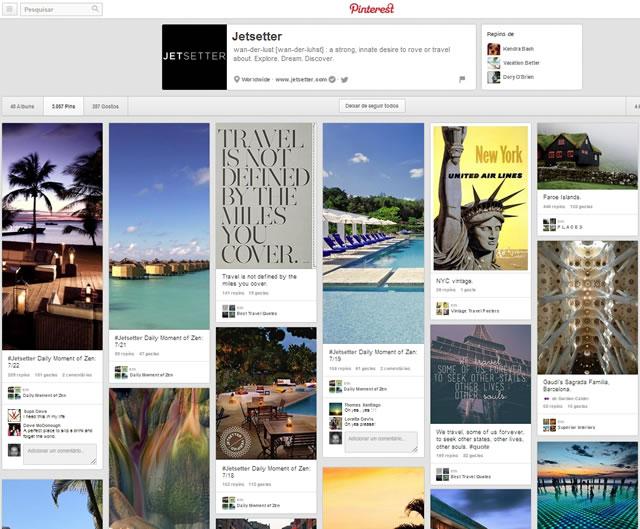 Чехол для джетсеттера, Pinterest и туризма